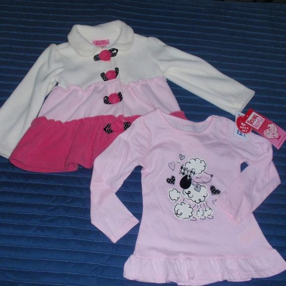1390b077a6e8 NWT Young Hearts Girls Fleece Jacket Shirt 3t